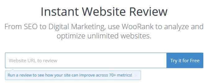 چک کردن سئو سایت با woorank