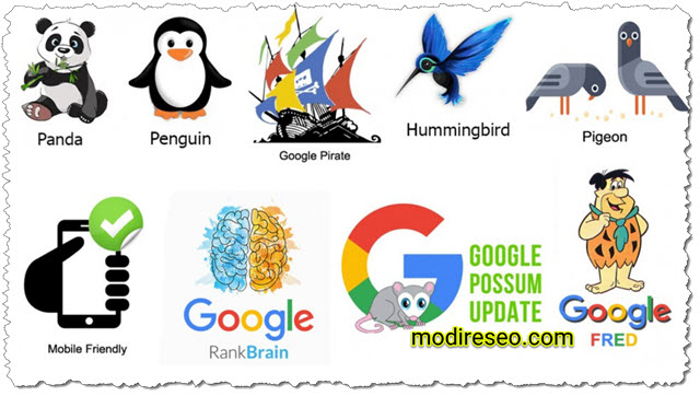 تغییرات الگوریتم گوگل