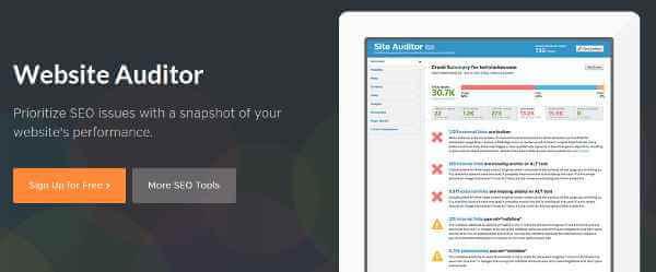 بررسی سئو سایت وردپرس در site auditor